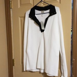 Chico's Zenergy Sarah sweater top kni white